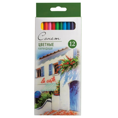 Set 12 creioane colorate sonnet